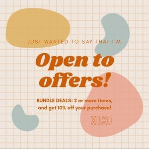 Open to offers and bundle deals!!!